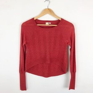 Anthropologie Little Yellow Bird Cropped Sweater